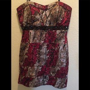 Juniors XOXO Mini Dress Size 13/14 Black & Red